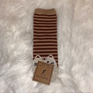 Brown Striped Cat Socks